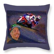 2016 Fim Superbike Nicky Hayden Throw Pillow