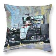 2016 Monaco Gp Mercedes Amg Petronas Hamilton  Throw Pillow