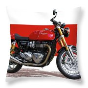 2016 Triumph 1200 Cc Motorcycle Throw Pillow
