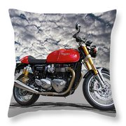 2016 Triumph Cafe Racer Motorcycle Throw Pillow