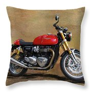 2016 Triumph Motorcycle Throw Pillow