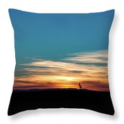 2016_10_pecos Tx_pump Jacks 4 Throw Pillow