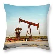 2016_10_pecos Tx_pump Jacks 2 Throw Pillow