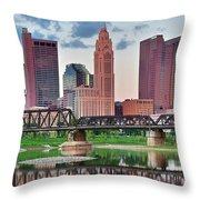 2017 Columbus Panoramic Throw Pillow