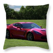 2017 Corvette Throw Pillow