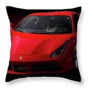 2017 Ferrari 488 Gtb Throw Pillow