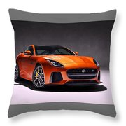 2017 Jaguar F Type Throw Pillow