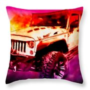 2017 Jeep Unlimited Beast Throw Pillow