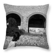 2017 Malpasso Con Murales Throw Pillow