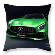 2017 Mercedes Amg Gt R Coupe Sports Car Throw Pillow