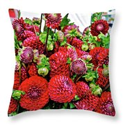 2017 Monona Farmers' Market August Dahlias 1 Throw Pillow