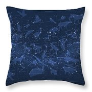 2017 Pi Day Star Chart Carree Projection Throw Pillow