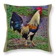 2017 Rooster Throw Pillow