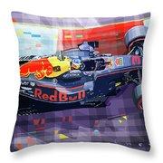 2017 Singapore Gp Red Bull Racing Ricciardo Throw Pillow