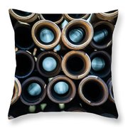 2017_05_drill Pipe Lights 1 Throw Pillow