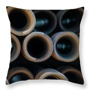 2017_05_midland Tx_drill Pipe Lights 2 Throw Pillow
