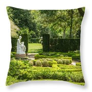 201707040-001 Seated Woman Statue 4x5 Throw Pillow