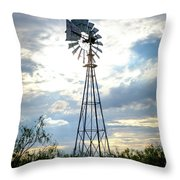 2017_08_midland Tx_windmill 2 Throw Pillow