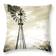 2017_08_midland Tx_windmill 3 Throw Pillow