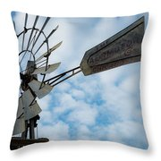 2017_08_midland Tx_windmill 5 Throw Pillow