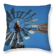 2017_08_midland Tx_windmill 7 Throw Pillow