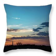 2017_09_midkiff Tx_rigs At Sunset 1 Throw Pillow