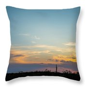 2017_09_midkiff Tx_rigs At Sunset 3 Throw Pillow