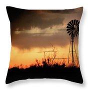 2017_09_midland Tx_windmill 1 Throw Pillow
