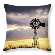 2017_09_midland Tx_windmill 3 Throw Pillow