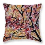 201727 Cherry Blossoms Throw Pillow