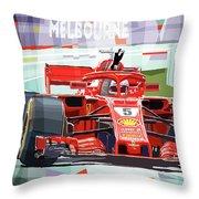 2018 Australian Gp Ferrari Sf71h Vettel Winner  Throw Pillow