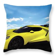 2018 Ford Gt At The Track Throw Pillow