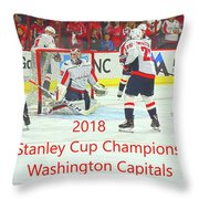 2018 Stanley Cup Champions Washington Capitals Throw Pillow
