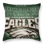 2018 Superbowl Eagles Barn Wall Throw Pillow
