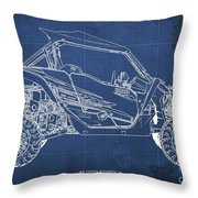2018 Yamaha Wolverine X4 Blueprint Blue Background Gift For Dad Throw Pillow