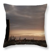 2018_02_pecos Tx_ Oil And Gas Artwork Throw Pillow