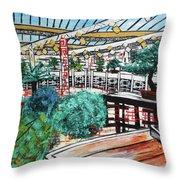 201804 Bonsai And Penjing Museum Washington Throw Pillow