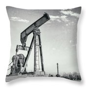 2018_04_orla Texas_broken Pump Jack 1 Throw Pillow