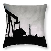 2018_08_malaga Nm_cactus 153 Pump Jack Throw Pillow