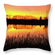 2018_2_12  Vivid Sunset Reflection-4291 Throw Pillow