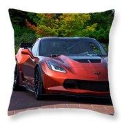 201x  Corvette 'copperhead' C7 Throw Pillow