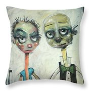 2040 Reality Hits The Millennials Throw Pillow