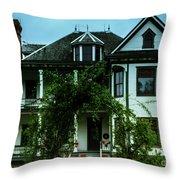 20th Century Mansion Throw Pillow