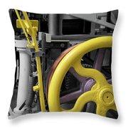 20th Century Mechanical Machinery Sc Throw Pillow