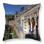 Alcazar Seville Sevilla Andalucia Spain Throw Pillow