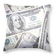 American Banknotes 3 Throw Pillow