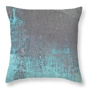 Blue Metal Throw Pillow