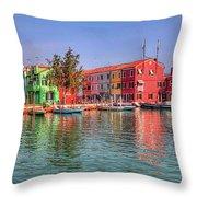 Burano Venice Italy Throw Pillow