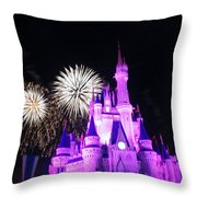 Cinderella Castle Throw Pillow