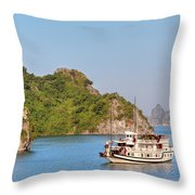 Halong Bay - Vietnam Throw Pillow